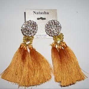 Natasha yellow tassel Earring